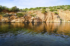 Lac Vouliagmeni en Attica Greece Photographie stock
