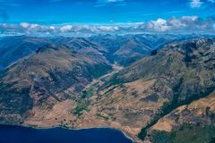 Lac Wakatipu, Nouvelle-Zélande - 16 janvier 2018 : Air New Zealand A Photo stock