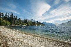 Lac Wakatipu, Nouvelle Zélande Images libres de droits