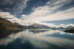 Lac Wakatipu, Nouvelle Zélande Image libre de droits