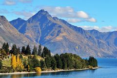 Lac Wakatipu, Queenstown, Nouvelle-Zélande photo stock