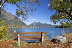 Lac Walchensee en Allemagne du sud Images libres de droits