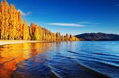 Lac Wanaka, Nouvelle Zélande Images libres de droits