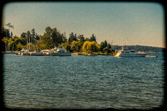 Lac Washington Marina Images stock