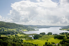 Lac Windermere d'Ambleside Photos stock