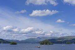 Lac Windermere, vue de Bownness-sur-Windermere Image stock