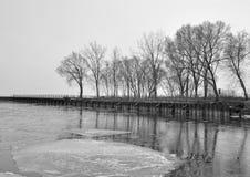 Lac winter Image libre de droits