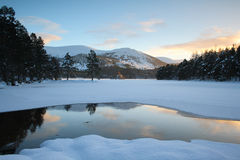 Lac winter Photographie stock