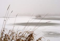 Lac winter photographie stock libre de droits