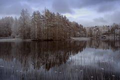Lac winter de la Finlande Photo stock