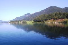 Lac Wolfgangsee, Autriche Images libres de droits