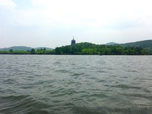 Lac Xihu à Hangzhou Images libres de droits