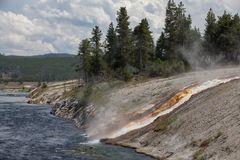 Lac Yellowstone Image libre de droits