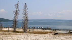 Lac Yellowstone du bassin occidental de geyser de pouce Photographie stock