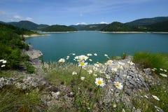Lac Zaovine Photographie stock
