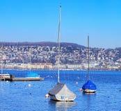 Lac Zurich en hiver photo libre de droits