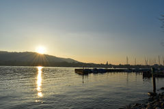 Lac zurich - Suisse Photo stock