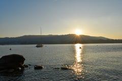 Lac zurich - Suisse Photos libres de droits