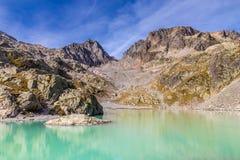 Laca Blanc com DES Vermelho-França de Aiguilles Foto de Stock Royalty Free