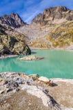 Laca Blanc com DES Vermelho-França de Aiguilles Fotos de Stock Royalty Free