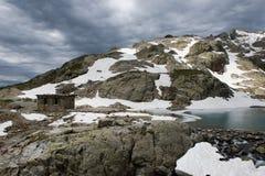 Laca Blanc en el Alpes Fotografía de archivo