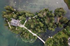 Laca de Champex, Suiza imagen de archivo libre de regalías