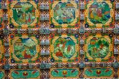 Laca de drenaje coloreada del estilo del tradtional de Tíbet Imagen de archivo