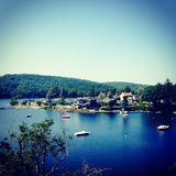 Laca De Guerledan, França Fotografia de Stock Royalty Free