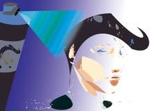 Laca de pelo ilustración del vector