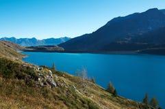 Laca du Mont Cenis, alpes Fotos de Stock Royalty Free