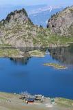 Laca Roberto y estación de esquí Foto de archivo