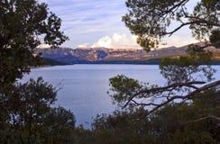 Laca Sainte Croix Du Verdon e Grand Canyon de Verdon Fotografia de Stock
