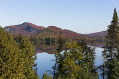 Laca-Superieur, Mont-tremblant, Quebeque, Canadá Fotografia de Stock