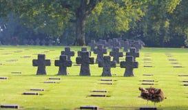 LaCambe tysk militär kyrkogård, Normandie royaltyfri fotografi