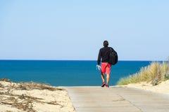 Lacanau, Франция, атлантическое побережье стоковое изображение rf