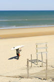 Lacanau, Франция, атлантическое побережье стоковые изображения rf