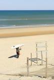 Lacanau, Francia, costa atlantica Immagini Stock Libere da Diritti
