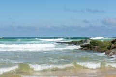 Lacanau, l'Oceano Atlantico, Francia Fotografia Stock