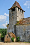 Lacapelle Biron, Saint Avit church in Lot et Garonne Stock Photography