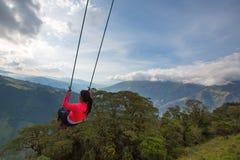 Lacasa Del Arbol in Banos, Ecuador Lizenzfreie Stockfotografie