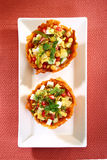Laccha Tokri Chaat or Potato Basket stuffed with potato Stock Photography