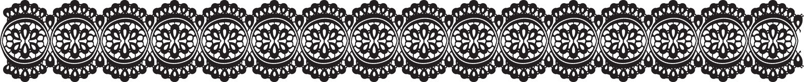Lace. Seamless lace strip silhouette vector pattern Stock Photos