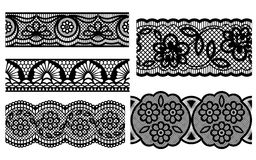 Lace. Decorative seamless patterns. Vector illustration Royalty Free Stock Photos