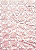 Lace. Pink lace on a white background stock images
