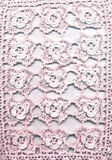 Lace. Pink lace on a white background stock photos