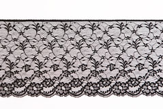 Lace background. Black lace border background texture royalty free stock image