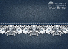 Lace background vector illustration