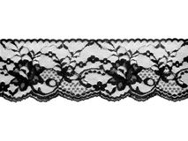 Lace background. Black lace on white background Royalty Free Stock Photography