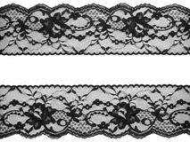 Lace background. Black on white Royalty Free Stock Images
