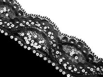 Lace background. Black on white Royalty Free Stock Photo